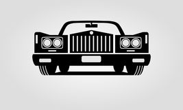 Generic retro car. Front view Royalty Free Stock Photography