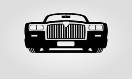 Generic retro car. Front view Royalty Free Stock Photos