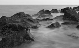 Generic Rock and Water greyscale 2 stock images