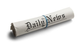 Generic Rolled Up Newspaper Royalty Free Stock Photos