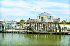 Grand Isle, Louisiana. A generic scene on the Gulf Coast of Louisiana stock photography