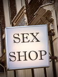 Generic sex shop sign in Amsterdam Royalty Free Stock Photo