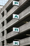 Generic sign on a parking deck Stock Image