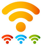 Generic signal or RSS feed icon. Symbol for syndication, wireles Stock Photo