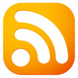 Generic signal or RSS feed icon. Symbol for syndication, wireles Stock Images