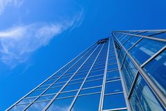 Generic skyscraper over blue sky Royalty Free Stock Photo