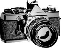 Generic SLR Photo Camera. Stock Photo