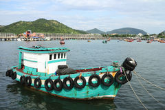 Generic Small Fishing Ship of Thailand Stock Image