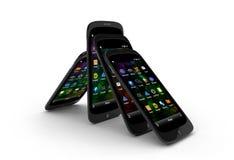 Generic smartphones Royalty Free Stock Photos