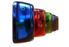 Generic smartphones Stock Photo