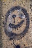 Generic smiley face emoticon graffiti Stock Image