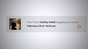 Generic Social Media Pop-Up Notification - Tagged you in a post ALT