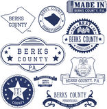 Generic stamps and signs of Berks county, PA Stock Photos