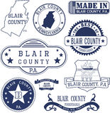 Generic stamps and signs of Blair county, PA Stock Photography