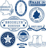Generic stamps and signs of Brooklyn borough, NYC Stock Photos