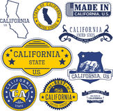 Generic stamps and signs of California State Stock Photography