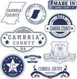 Generic stamps and signs of Cambria county, PA Stock Images