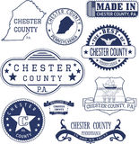 Generic stamps and signs of Chester county, PA Stock Image