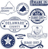 Generic stamps and signs of Delaware county, PA Stock Photo
