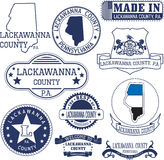 Generic stamps and signs of Lackawanna county, PA Stock Photography