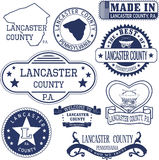 Generic stamps and signs of Lancaster county, PA Royalty Free Stock Image
