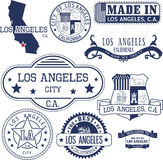 Generic stamps and signs of Los Angeles city, CA Stock Photo