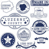 Generic stamps and signs of Luzerne county, PA Stock Image