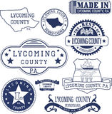 Generic stamps and signs of Lycoming county, PA Royalty Free Stock Photo