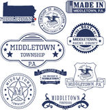 Generic stamps and signs of Middletown, PA Stock Image