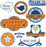 Generic stamps and signs of Orange county, NY. Set of generic stamps and signs of Orange county, New York state Royalty Free Stock Image