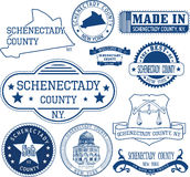 Generic stamps and signs of Schenectady county, NY Royalty Free Stock Images