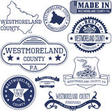 Generic stamps and signs of Westmoreland county, PA Stock Image