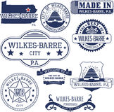 Generic stamps and signs of Wilkes-Barre city, PA Royalty Free Stock Photo