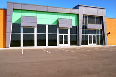 Generic store front. Unoccupied generic store front, business or professional office space stock images