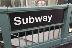 Generic subway sign and entrance Stock Photo