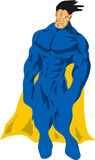 Generic superhero. With a blank chest for placing your own symbols vector illustration