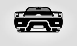 Generic suv car with bull bar. Off-road car with bull bar front view Royalty Free Stock Photo