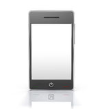 Generic touchscreen mobile phone device. 3D rendered image of generic touch screen mobile phone device Stock Photos