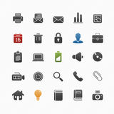 Generic vector symbol icon set stock illustration