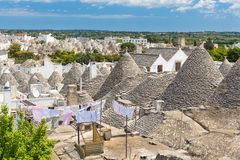Generic view of Alberobello with trulli roofs and terraces, Apulia region, Southern Italy Stock Photos