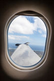 Generic view from inside single-prop airplane Royalty Free Stock Images