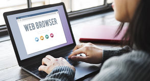 Generic Web Browser Online Page Concept.  stock photo