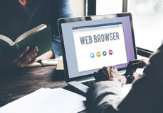 Generic Web Browser Online Page Concept royalty free stock photography