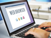 Generic Web Browser Online Page Concept. Generic Web Browser Online Page royalty free stock photography
