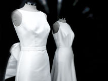 Generic wedding dresses. Manikin. Generic mannequins. White bride dresses Royalty Free Stock Images