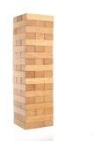 Generic wooden block building Stock Images