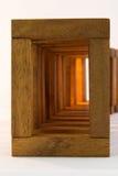 Wooden block building Stock Images