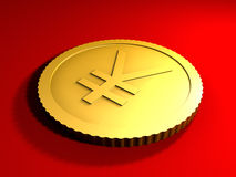 Generic Yen Coin Stock Photography