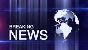 Generische achtergrond van het bol de Brekende Nieuws stock videobeelden