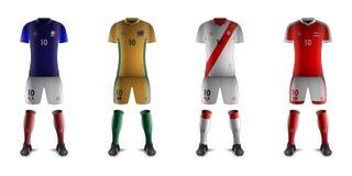 Generische Ausrüstungen Fußball-Nationalmannschaften C Lizenzfreies Stockfoto